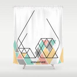 LessDanThree Brand Identity Shower Curtain