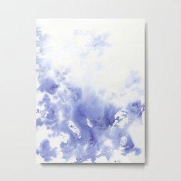 Abstract blue watercolor Metal Print