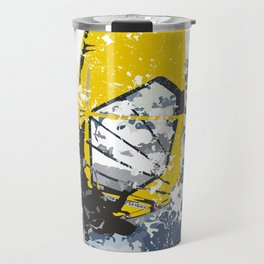 Ocean Wind Wave Winsurf Board Travel Mug