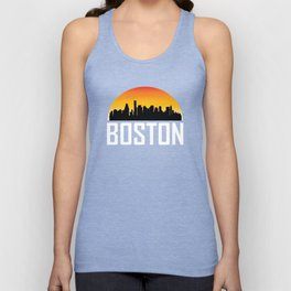 Sunset Skyline of Boston MA Unisex Tank Top