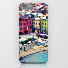 Italy Liguria Cinque Terre Seaside Colorful Houses iPhone Case