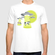 Late Night Snack MEDIUM Mens Fitted Tee White