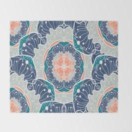 Blue Psychodelic Mandala Throw Blanket