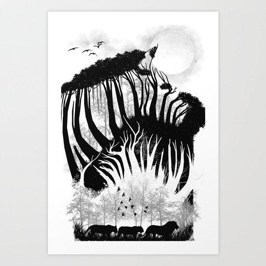 illusion of the wild Art Print