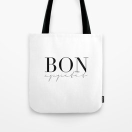 Bon Appetit,french Quote,Kitchen Sign,Kitchen Wall Art,Home Decor,Quote Prints,Typography Print Tote Bag