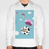 cows Hoodies featuring flying cows by vitamin