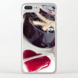 Croissants with jam (Valentine concept) Clear iPhone Case