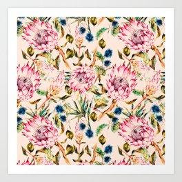 Pattern boho floral Art Print