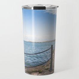 Dun Laoghaire pier Travel Mug