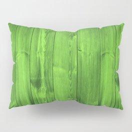Green Grass Wood Planks Pillow Sham