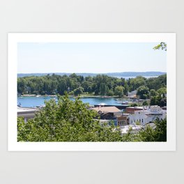 Harbor Springs Bay- View from Bluff (1) Art Print