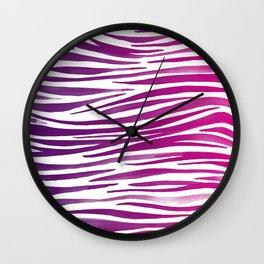 Pandanus Bark - Magenta Wall Clock