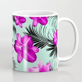 Tropical Flowers Palm Leaves Finesse #9 #tropical #decor #art #society6 Coffee Mug