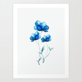 Blue Flowers 2 Art Print