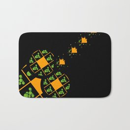 Orange and Green Spaces 110 Bath Mat