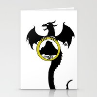 smaug Stationery Cards featuring Smaug by Selis Starlight