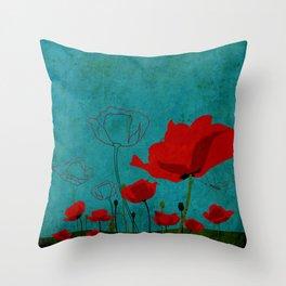 Flowers: Poppy Throw Pillow