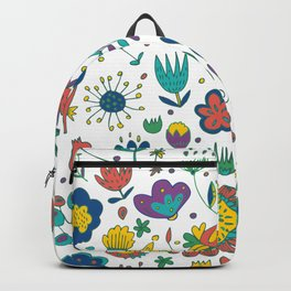 Flowers, flower meadow, nature Backpack
