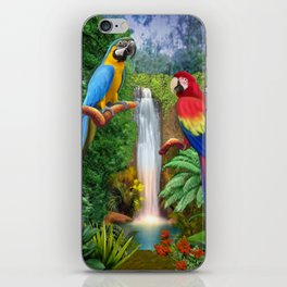 Macaw Tropical Parrots iPhone Skin