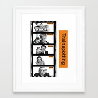 trainspotting Framed Art Prints featuring TRAINSPOTTING by Rocky Rock
