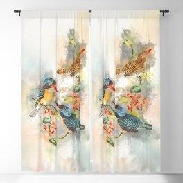 Chasing Birds #watercolor #birds #society6 Blackout Curtain