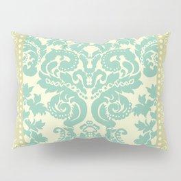 Ornamental Renaissance Border Design Acqua  Pillow Sham