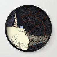 kaiju Wall Clocks featuring kaiju by thefleafarm (Amy Wright)