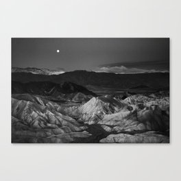 Moonset over Death Valley, California Canvas Print