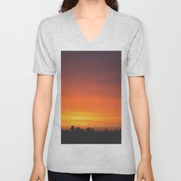 SUNRISE - SUNSET - ORANGE SKY - PHOTOGRAPHY Unisex V-Neck