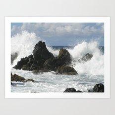 Maui Hawaii Surf Art Print