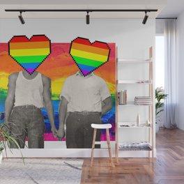 Vintage gay pride couple Wall Mural