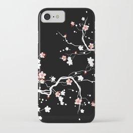 Black Cherry Blossom iPhone Case