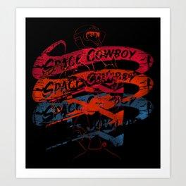 Space Cowboy - Mono Racer Art Print