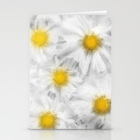 daisies Stationery Cards featuring Daisies by Klara Acel