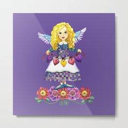 Angel Love (Purple) Metal Print