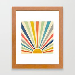 Sun Retro Art III Framed Art Print