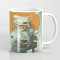 dave grohl Mugs featuring Aboard a Dying Construct by Dave E. Phillips