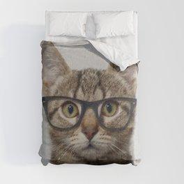 Geek cat Comforters