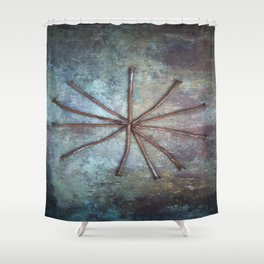 Circle of Nails Shower Curtain