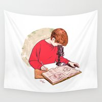 literary Wall Tapestries featuring Science! by Salgood Sam