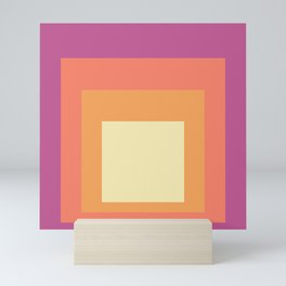 Block Colors - Pink Orange Cream Mini Art Print
