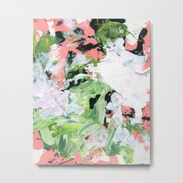 Abstract Green/Pink Metal Print