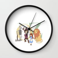 oz Wall Clocks featuring OZ by Little Moon Dance