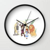 oz Wall Clocks featuring OZ by Little Moon Dance