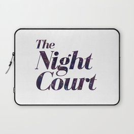 The Night Court Galaxy Design White Laptop Sleeve