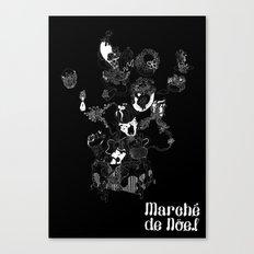 Marche black Canvas Print