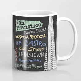 San Francisco Tourism Poster Coffee Mug