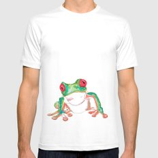 Froglet White MEDIUM Mens Fitted Tee