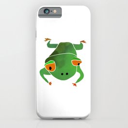 Green tree frog. Kids print iPhone Case