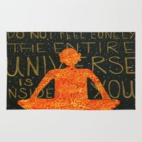 buddha Area & Throw Rugs featuring Buddha by Zoë Miller